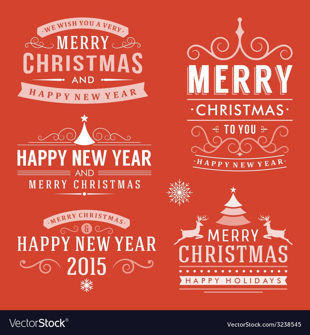 Christmas decoration set of design elements labels vector   Price: 1 Credit (USD $1)