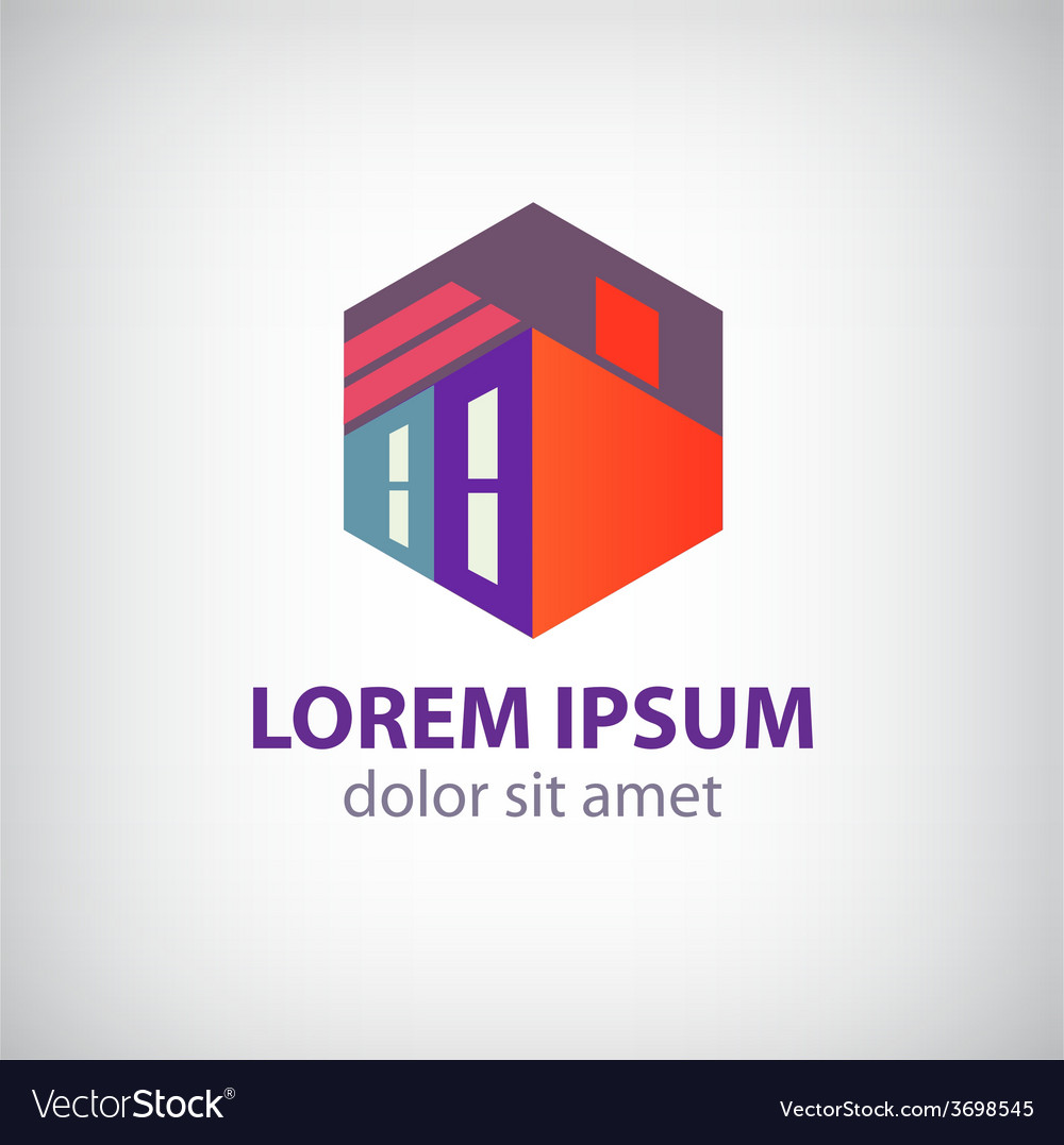 House abstract building construction icon vector | Price: 1 Credit (USD $1)