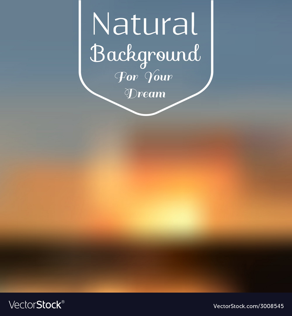 Natural background blur vector | Price: 1 Credit (USD $1)