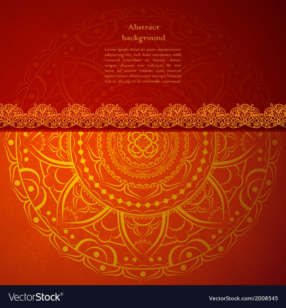 Red indian vintage ornament for your business vector | Price: 1 Credit (USD $1)