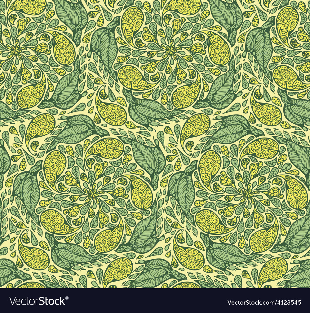 Seamless paisley and floral pattern vector | Price: 1 Credit (USD $1)