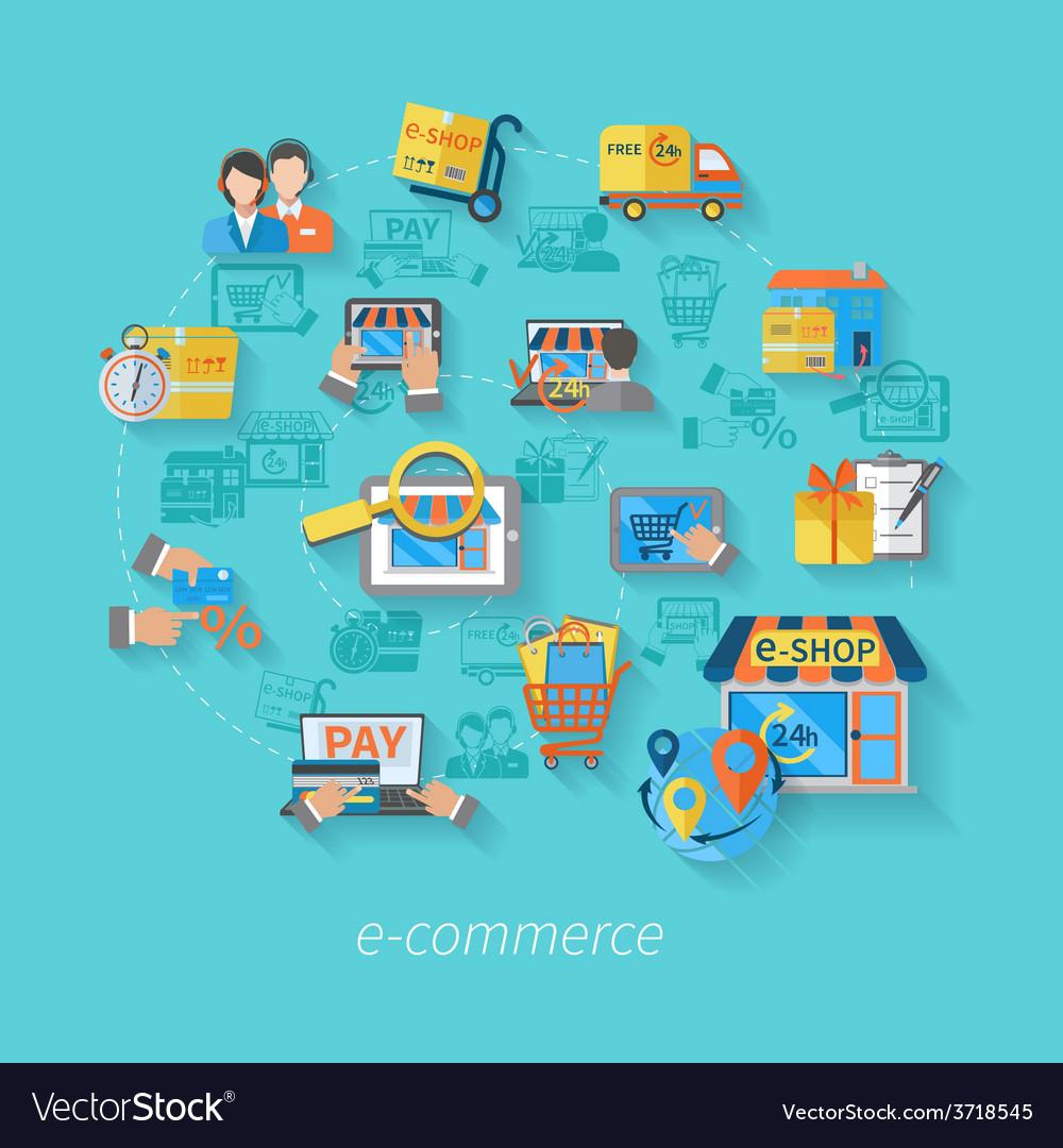 Shopping e-commerce concept vector   Price: 1 Credit (USD $1)
