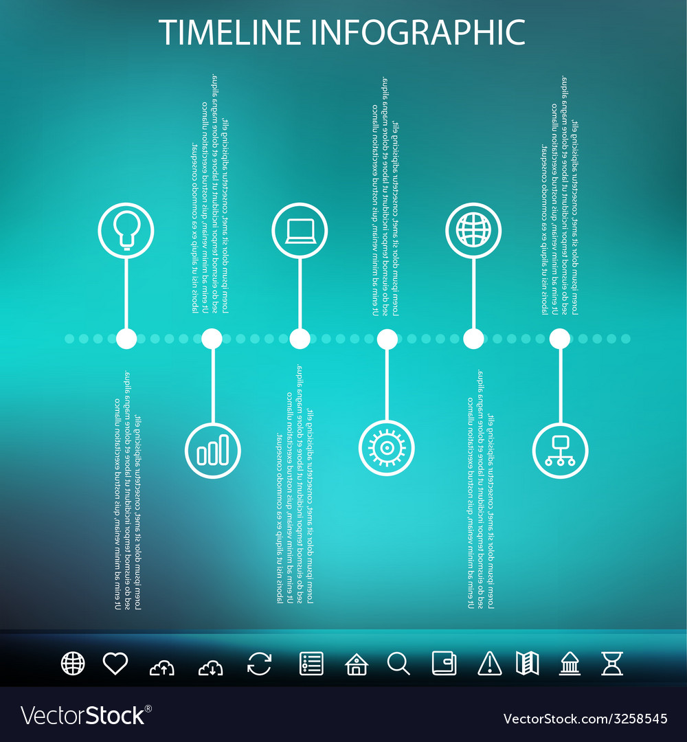 Timeline infographic with unfocused background vector | Price: 1 Credit (USD $1)
