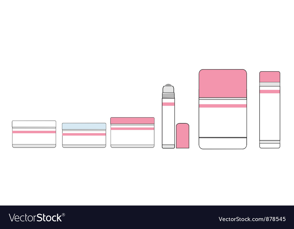 Tubes of lipstick and makeup vector | Price: 1 Credit (USD $1)