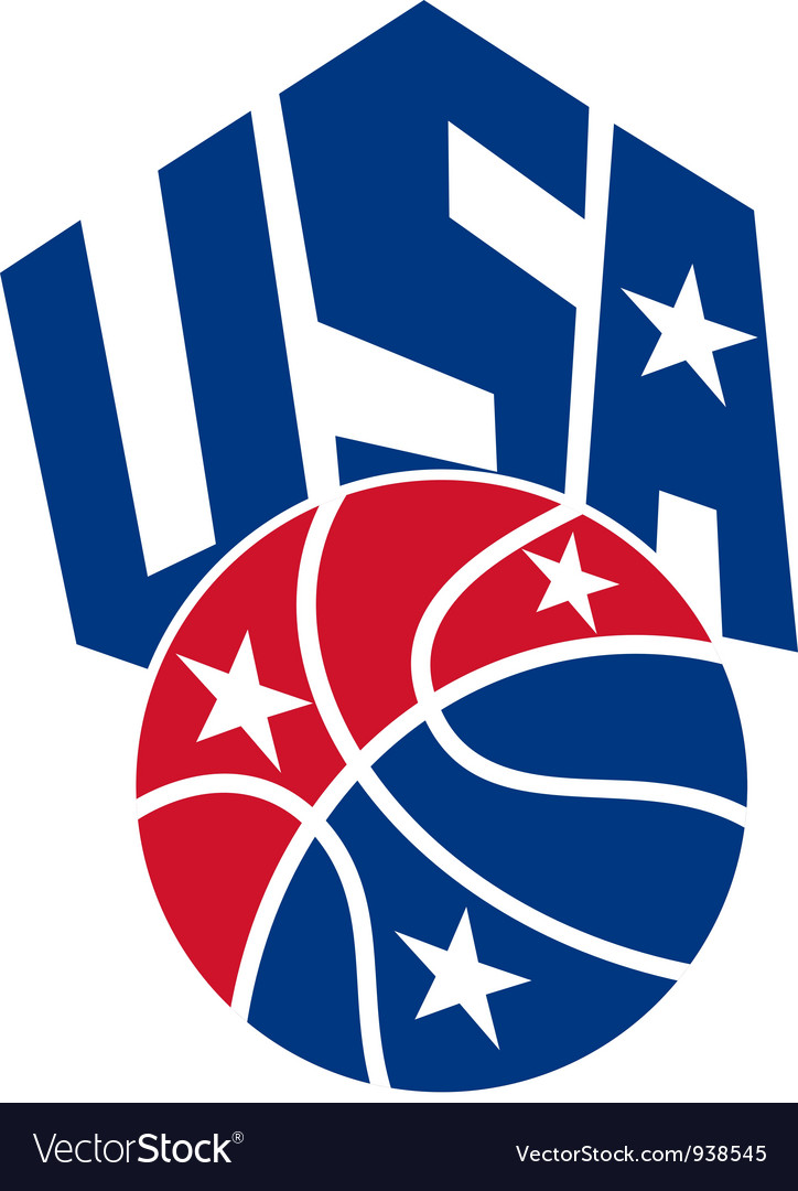 United states usa american basketball ball vector | Price: 1 Credit (USD $1)