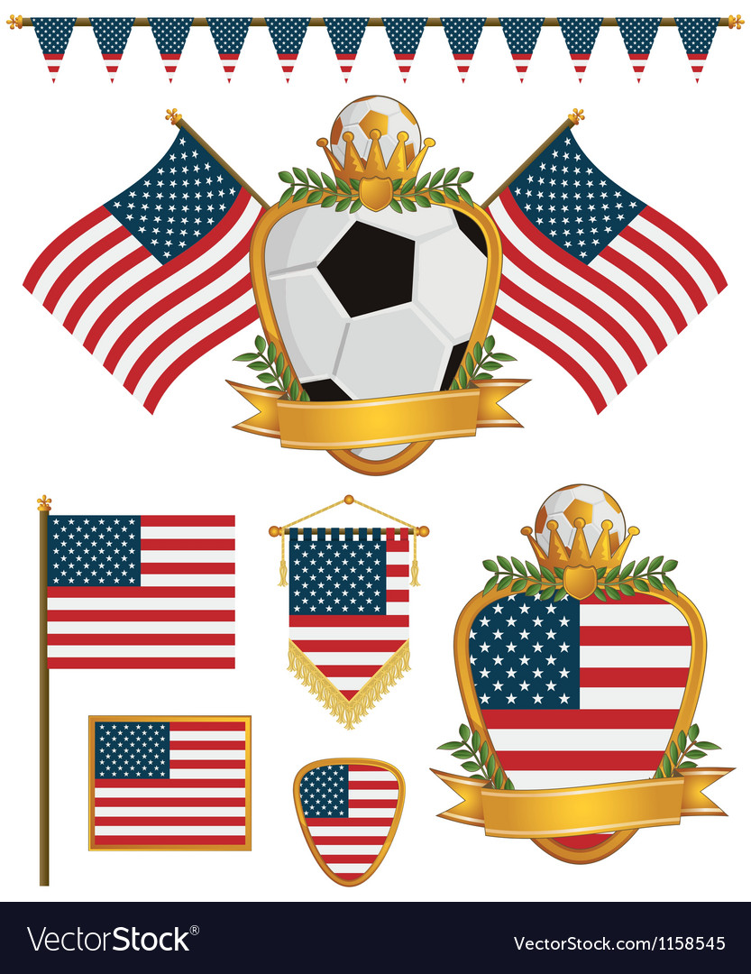 Usa flags vector   Price: 1 Credit (USD $1)