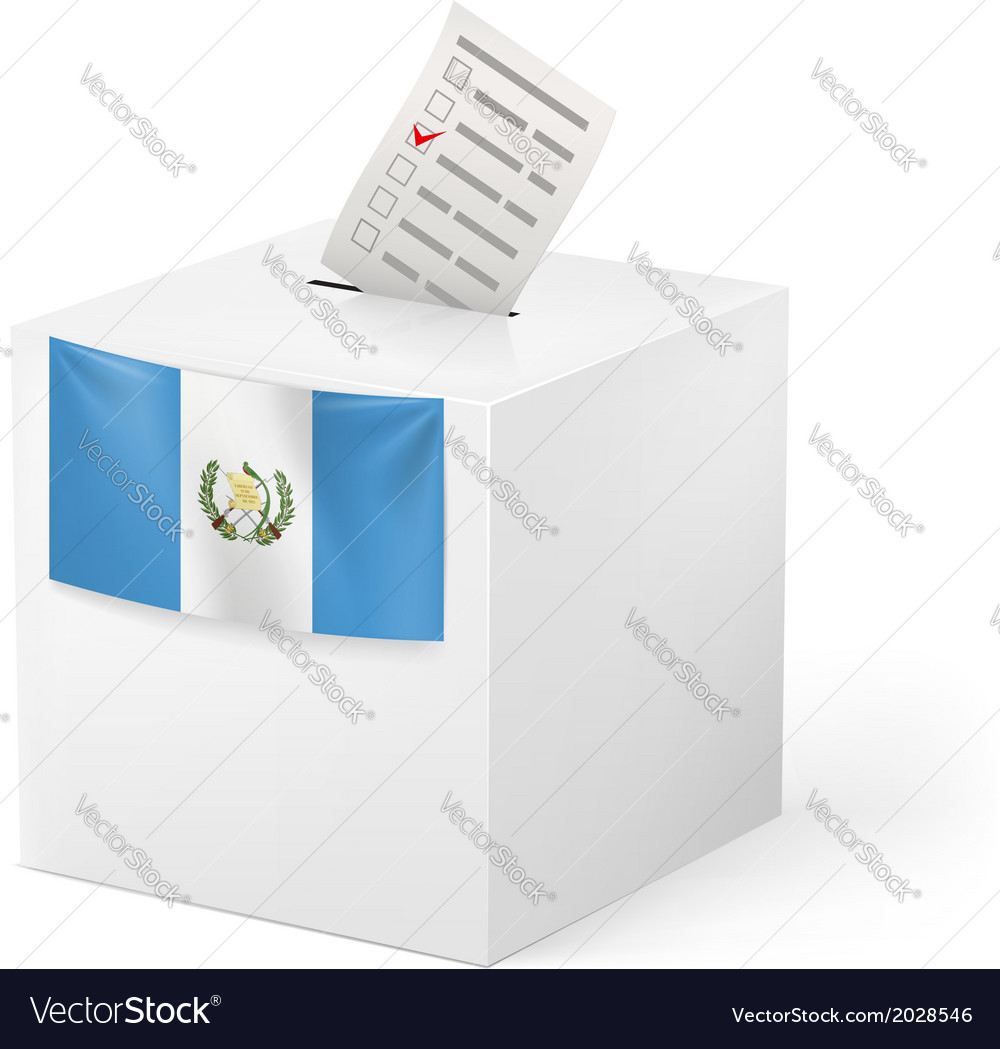 Ballot box with voting paper guatemala vector | Price: 1 Credit (USD $1)
