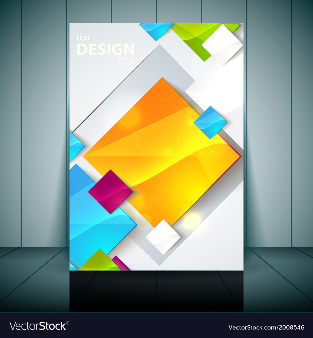 Fashion brochure flyer magazine cover  poster vector | Price: 1 Credit (USD $1)