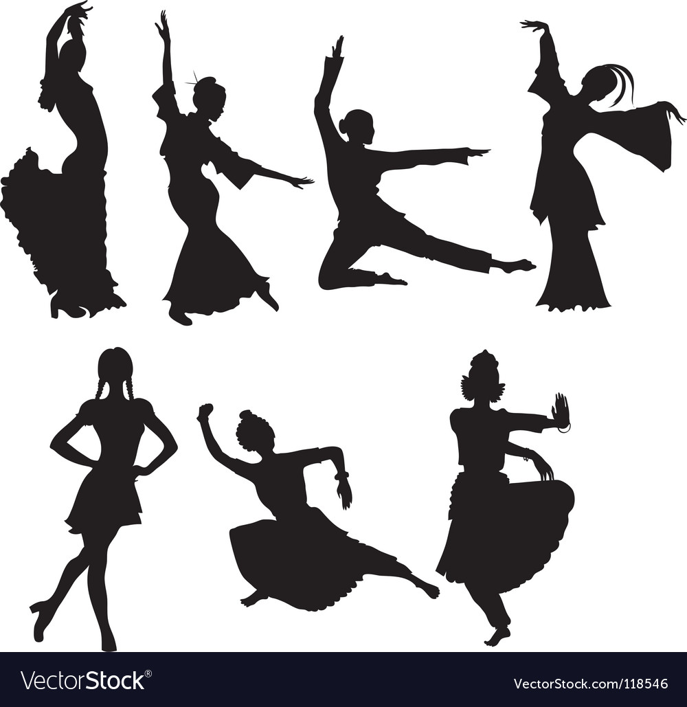 Folk dancers vector | Price: 1 Credit (USD $1)