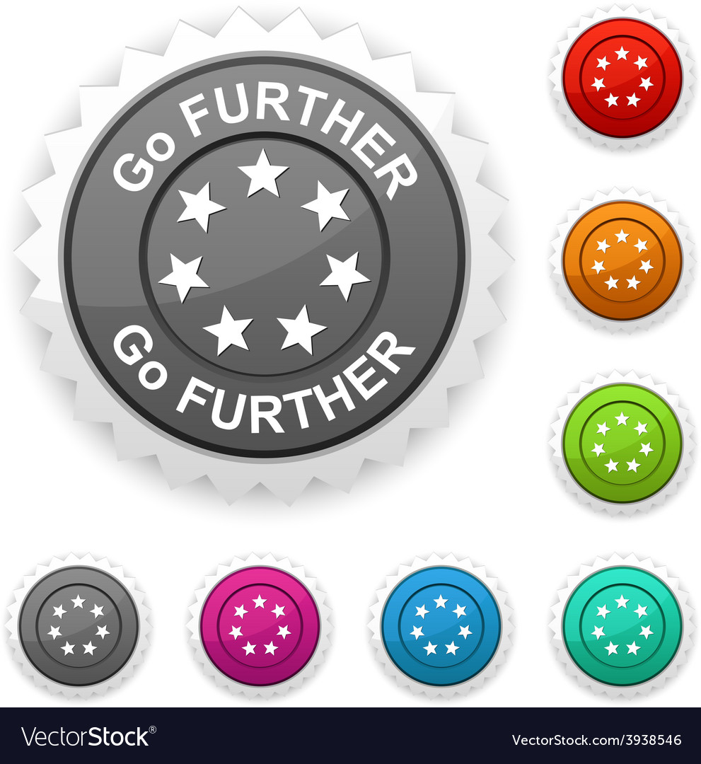 Go further award vector | Price: 1 Credit (USD $1)