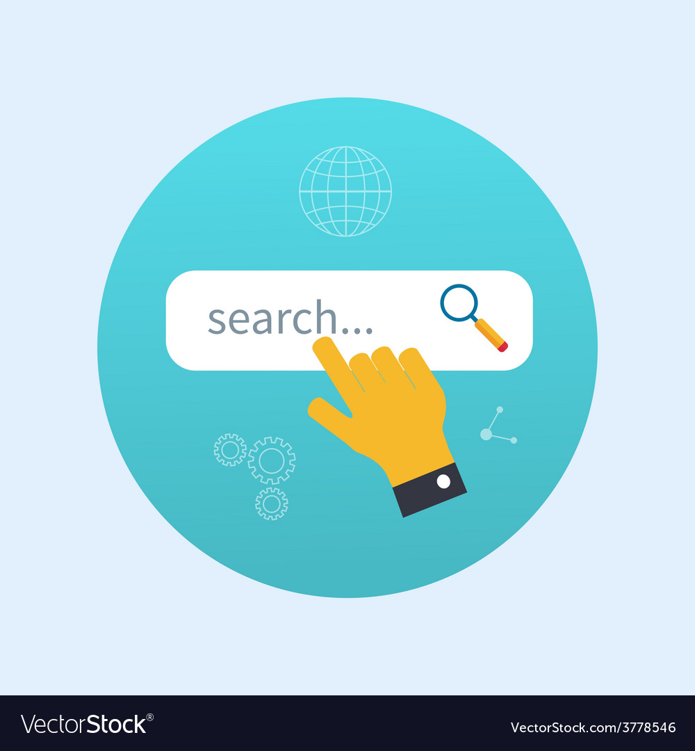 Internet search concept with search box vector | Price: 1 Credit (USD $1)