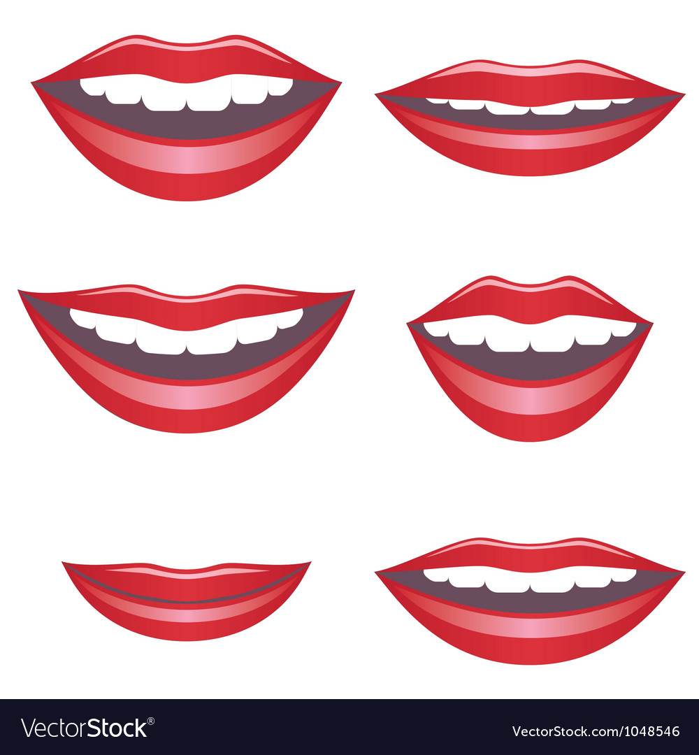 Mouths vector | Price: 1 Credit (USD $1)