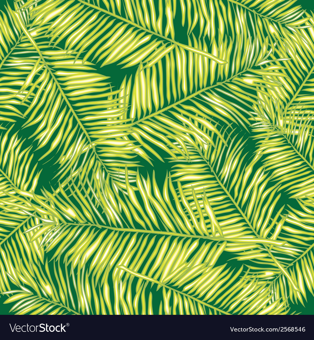Palm leaves seamless background floral vector | Price: 1 Credit (USD $1)