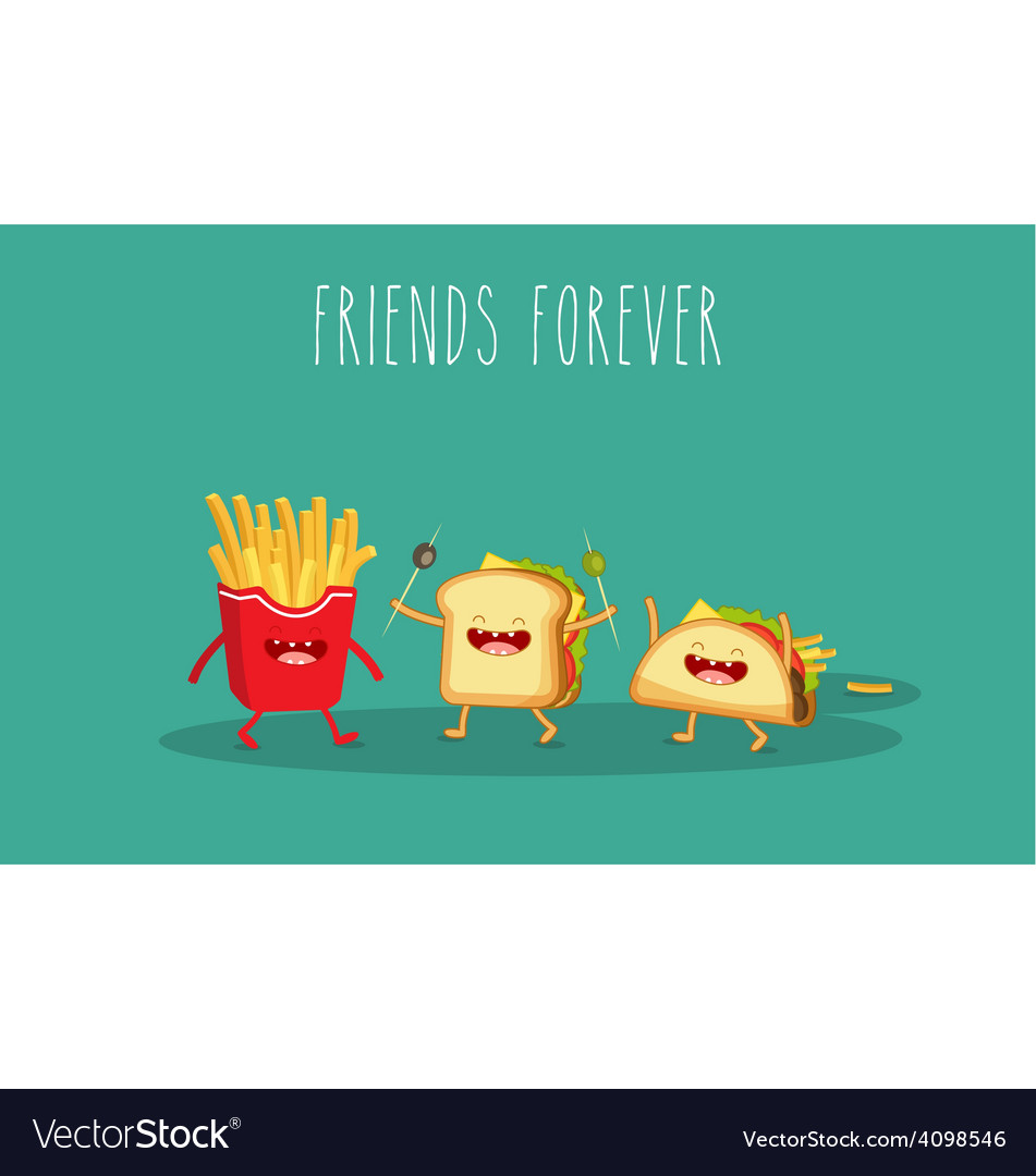 Sandwich and french fries vector | Price: 1 Credit (USD $1)