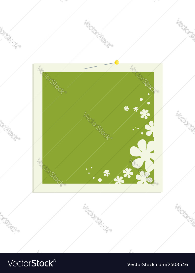 Square flower frame with pin vector | Price: 1 Credit (USD $1)