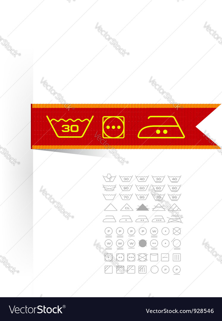 Symbols on label clothes vector | Price: 3 Credit (USD $3)