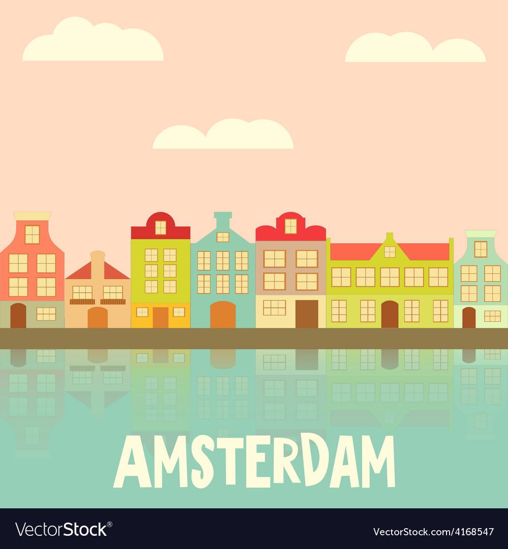 Amsterdam vector | Price: 1 Credit (USD $1)