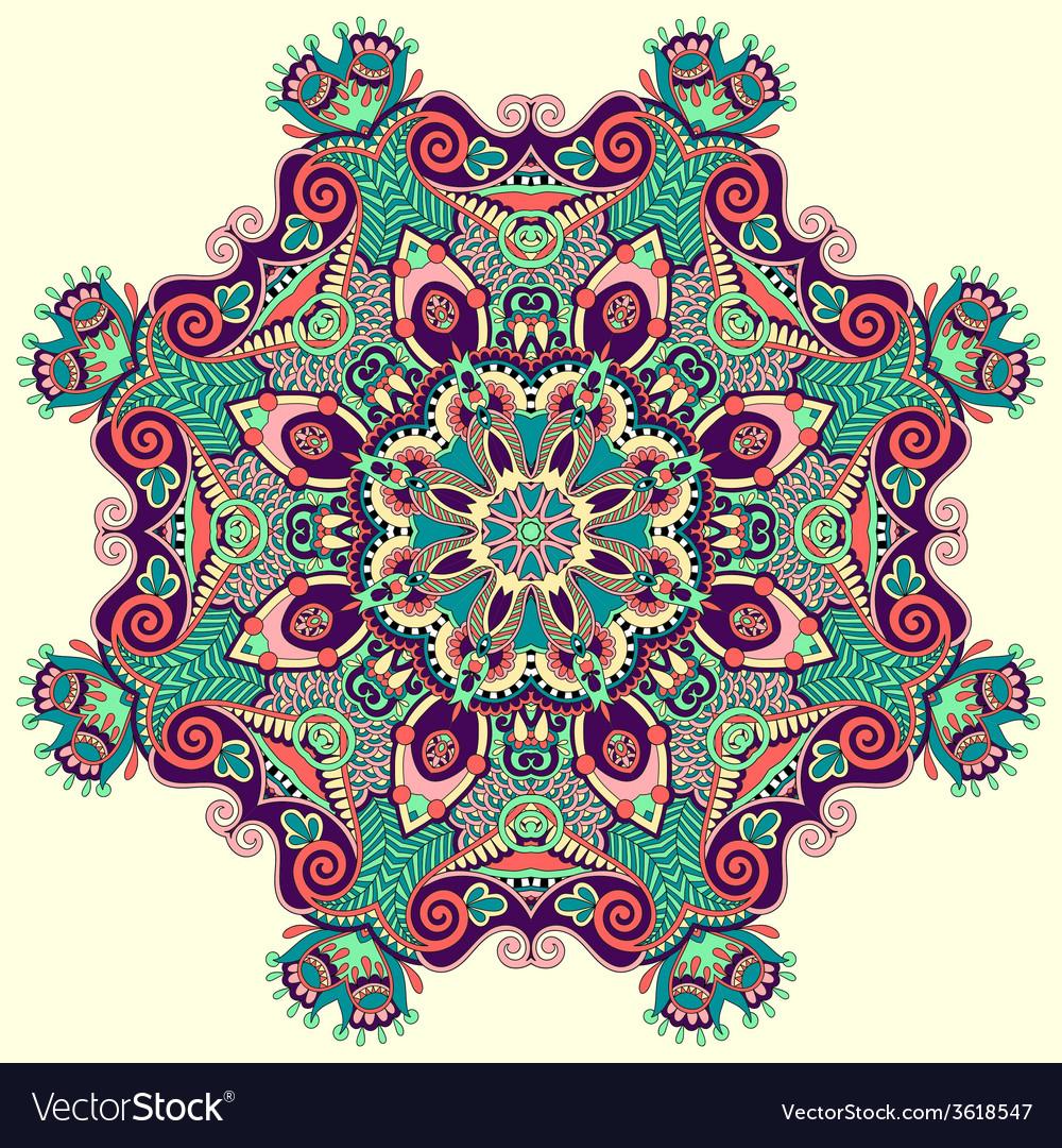 Beautiful vintage circular pattern of arabesques vector