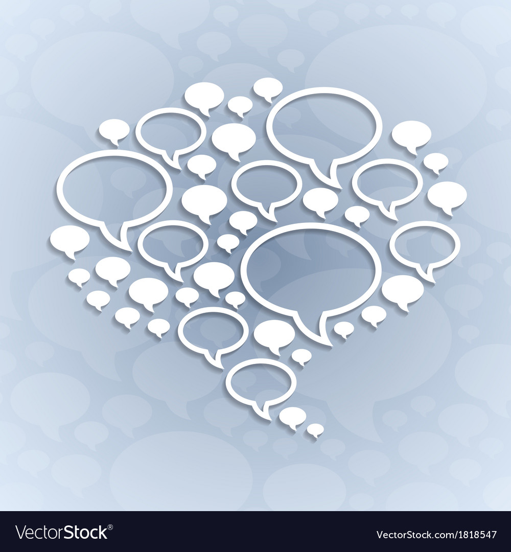 Chat bubble symbol on light grey background vector | Price: 1 Credit (USD $1)