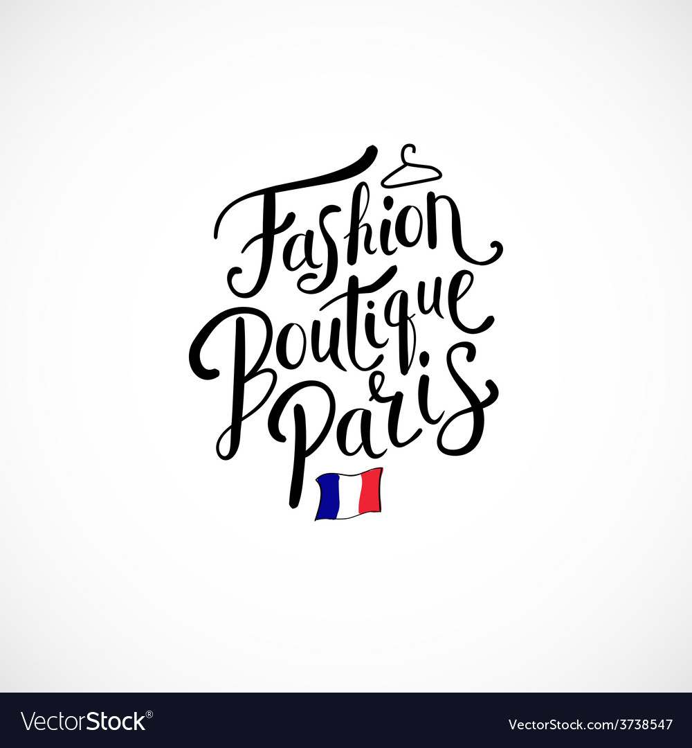 Fashion boutique paris concept on white background vector | Price: 1 Credit (USD $1)