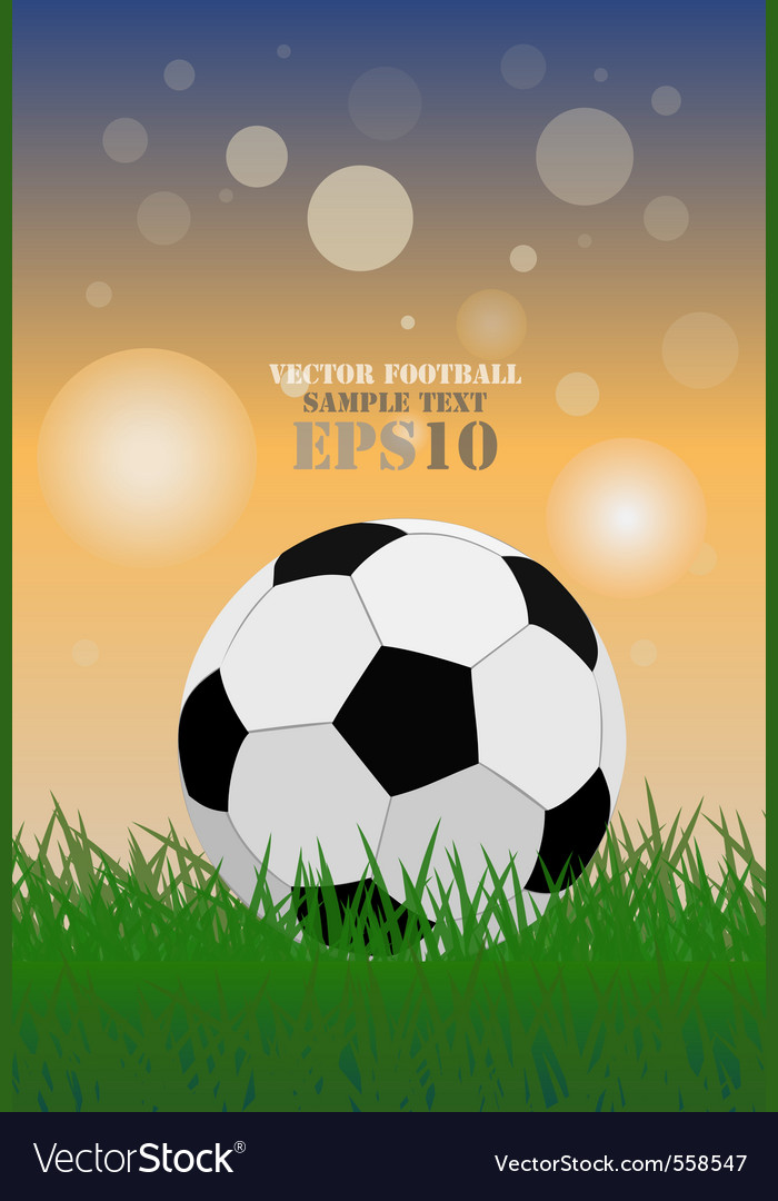 Football on green grass vector | Price: 1 Credit (USD $1)