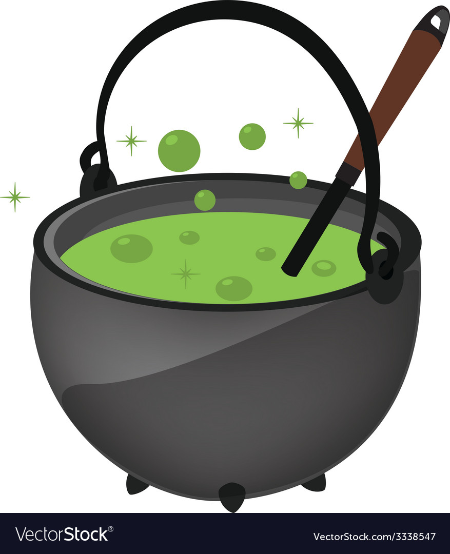 Magic kettle with spoon vector | Price: 1 Credit (USD $1)