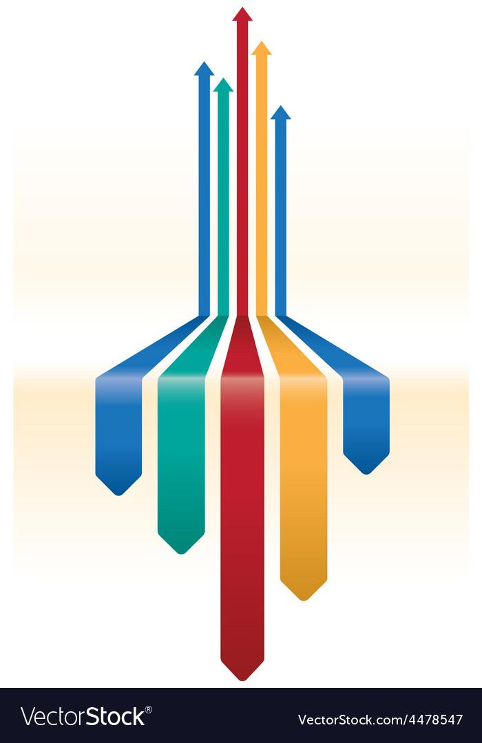 Multicoloured arrow background vector   Price: 1 Credit (USD $1)