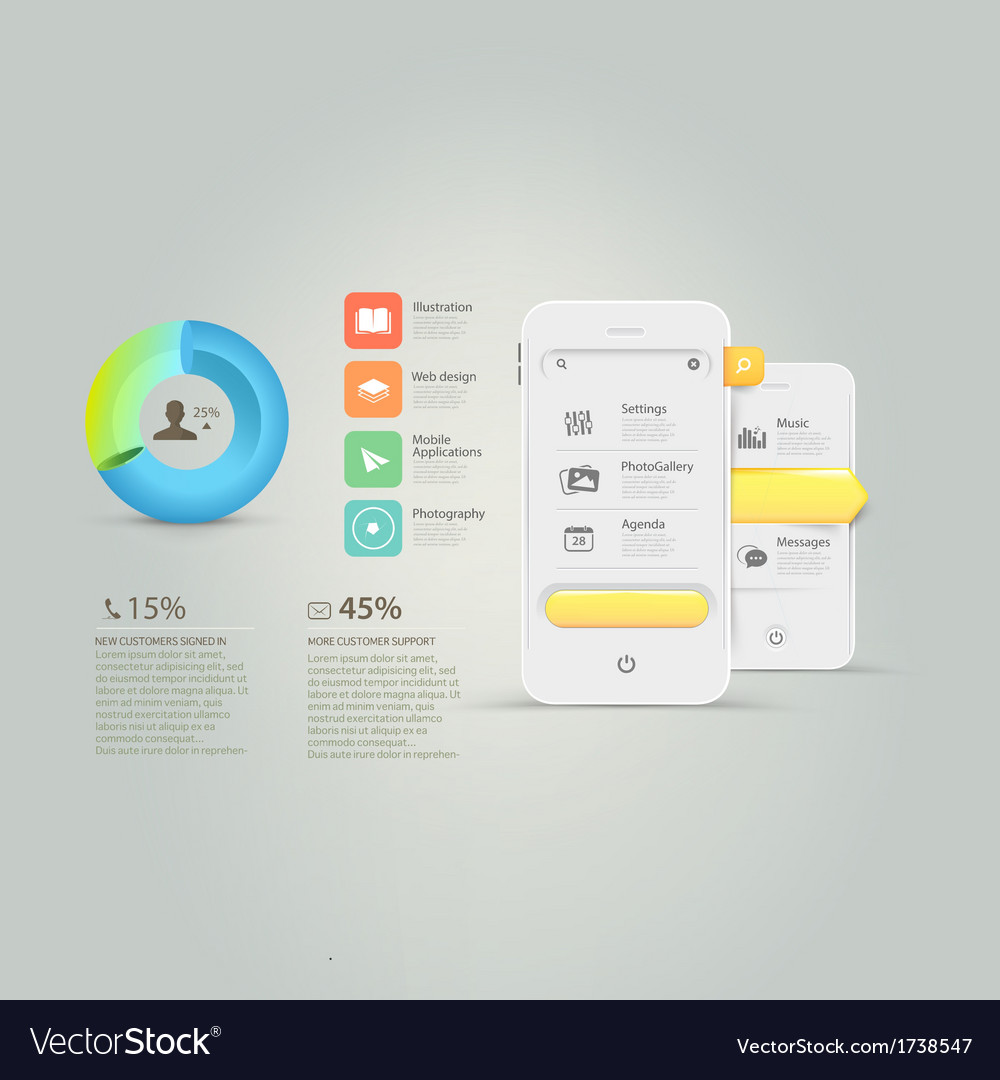 Technology infographics vector   Price: 1 Credit (USD $1)