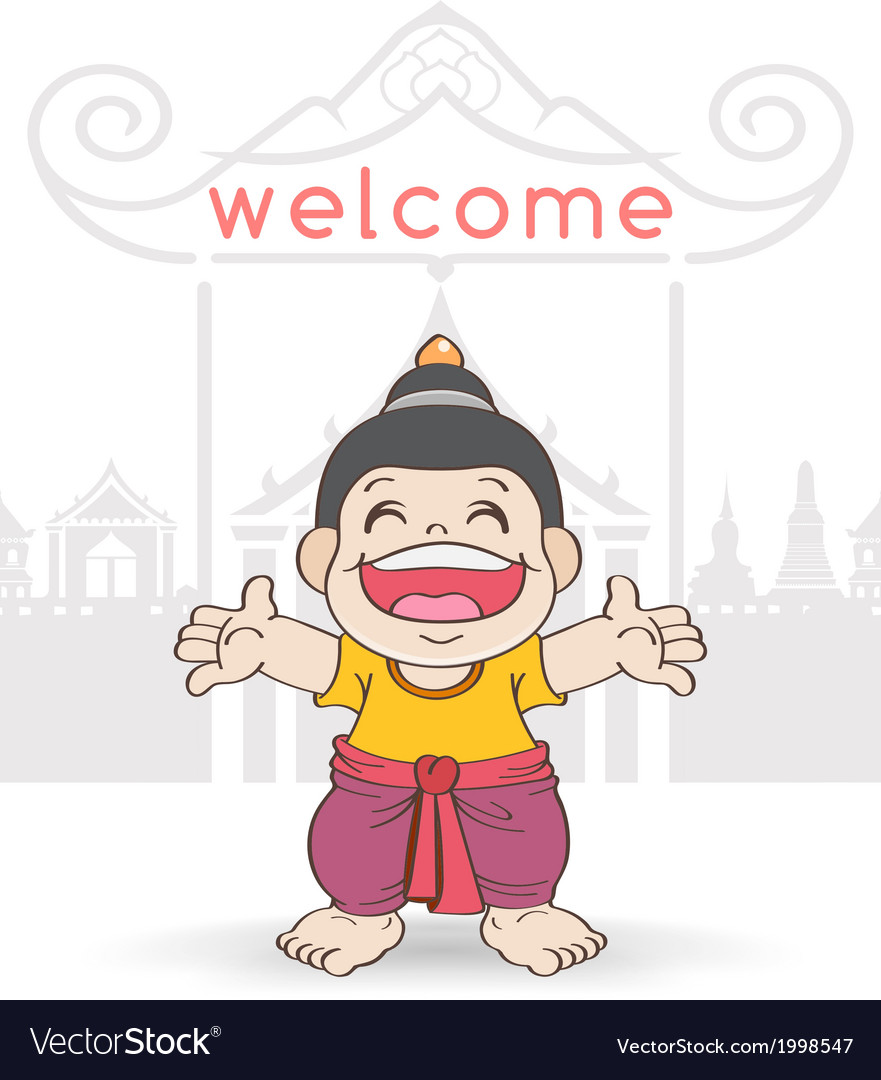 Welcome to songkran festival thailand vector | Price: 1 Credit (USD $1)