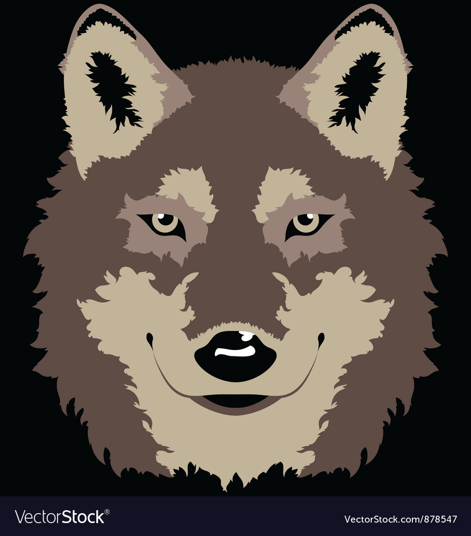 Wolf head vector | Price: 1 Credit (USD $1)