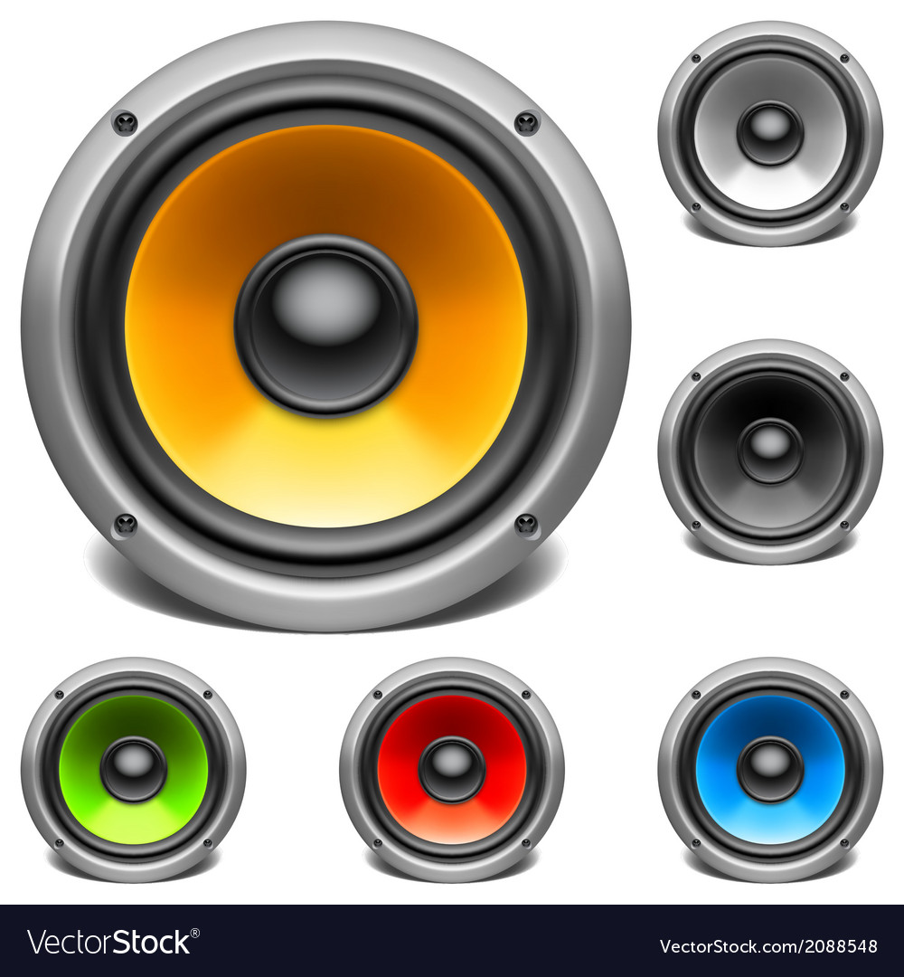 Color audio speakers vector | Price: 1 Credit (USD $1)