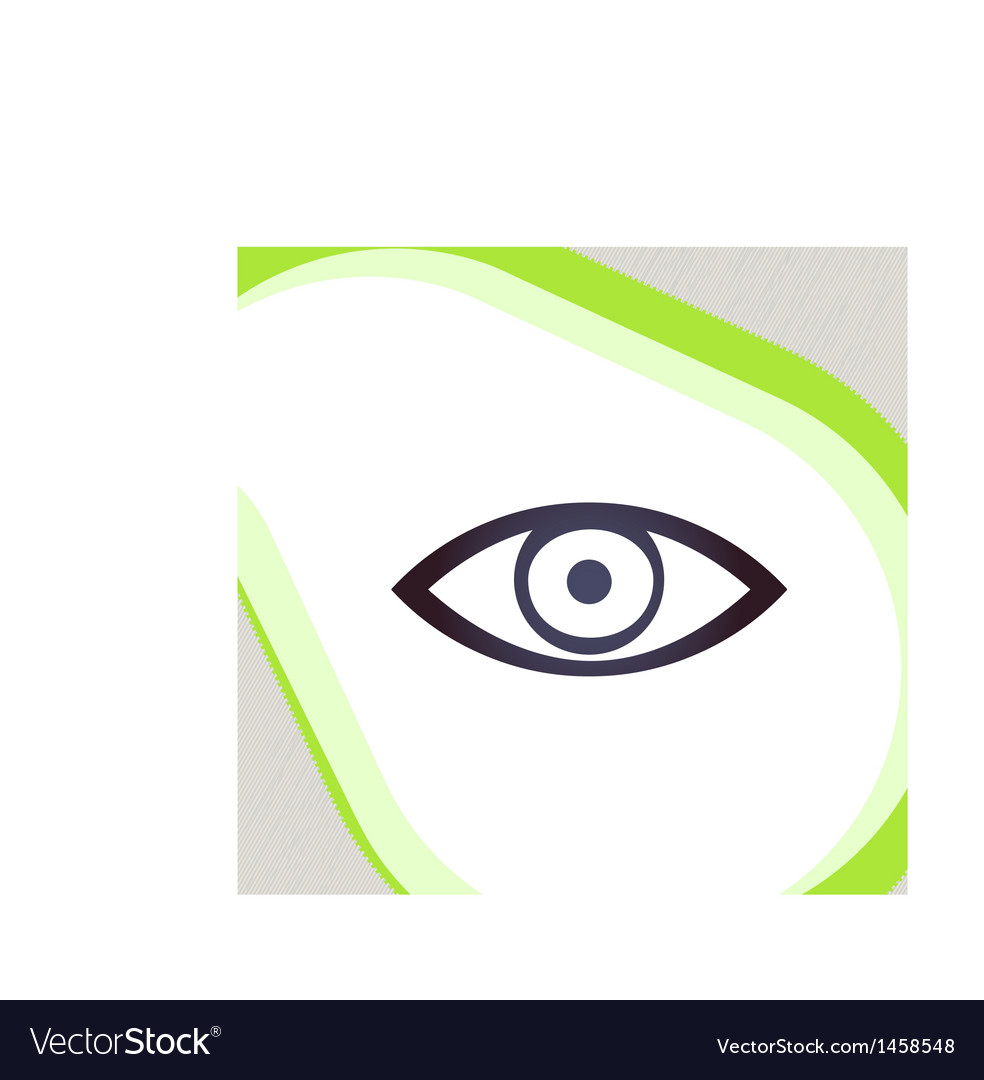 Eye retro-style emblem icon pictogram eps 10 vector | Price: 1 Credit (USD $1)