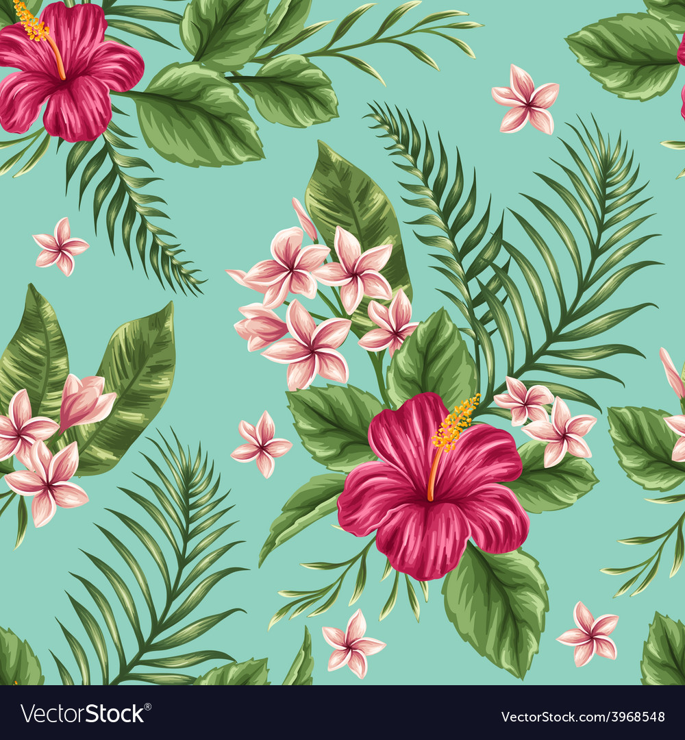 Floral seamless patterns vector | Price: 1 Credit (USD $1)