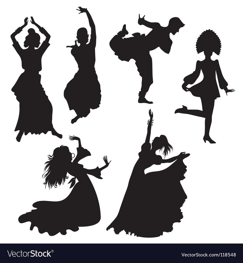Folk dances vector | Price: 1 Credit (USD $1)