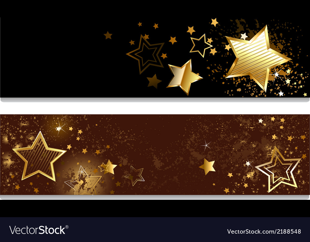 Four banners with stars vector | Price: 1 Credit (USD $1)