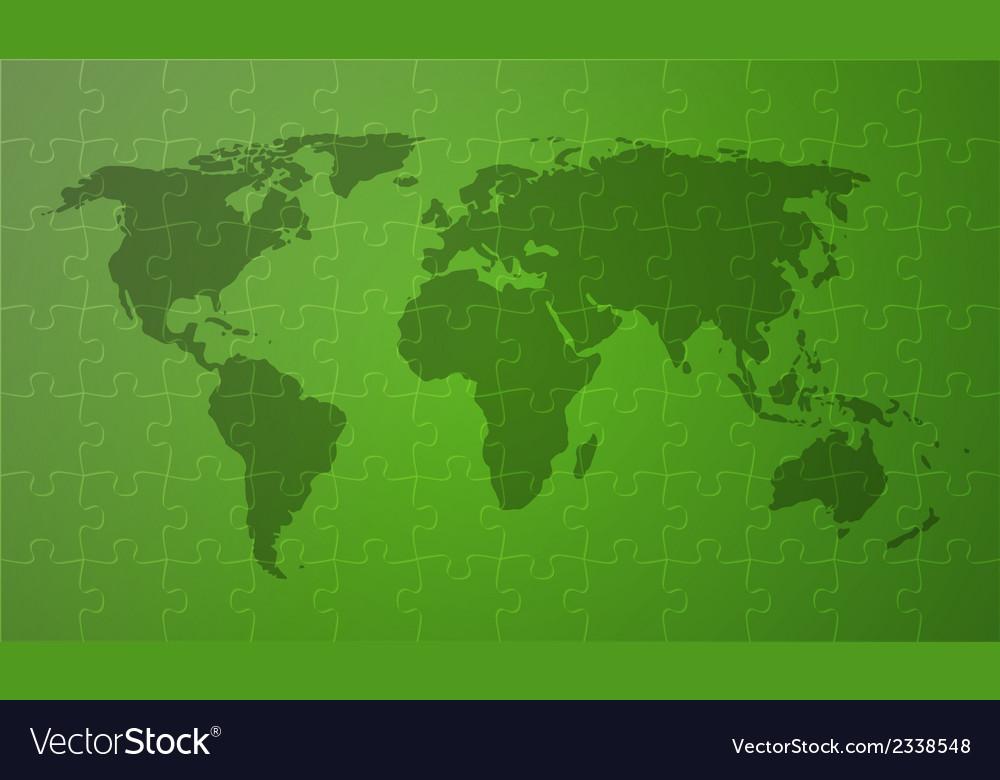 Green worldmap vector | Price: 1 Credit (USD $1)