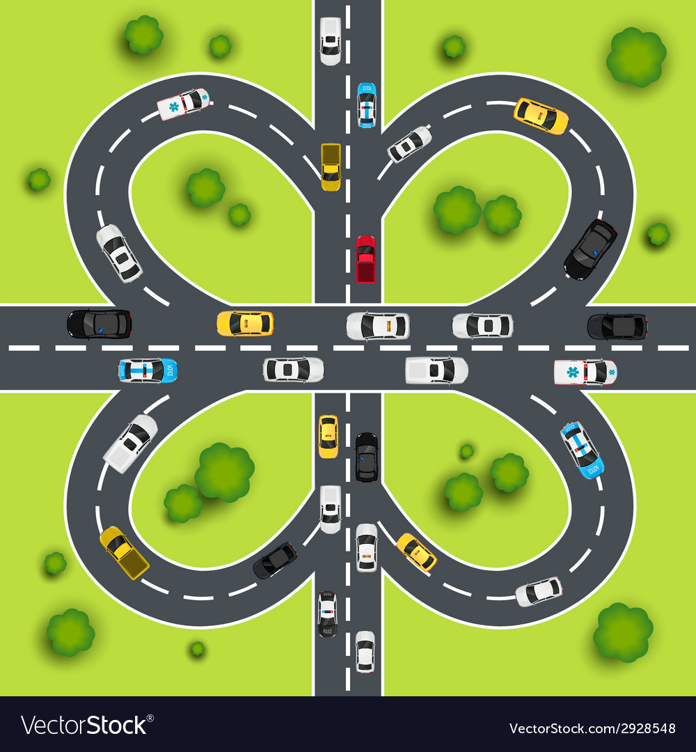 Highway traffic vector