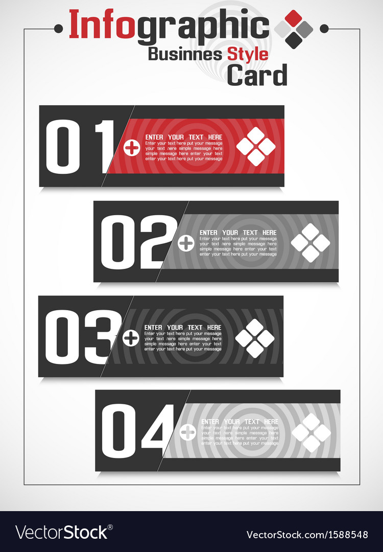Infographic businnes card style vector | Price: 1 Credit (USD $1)
