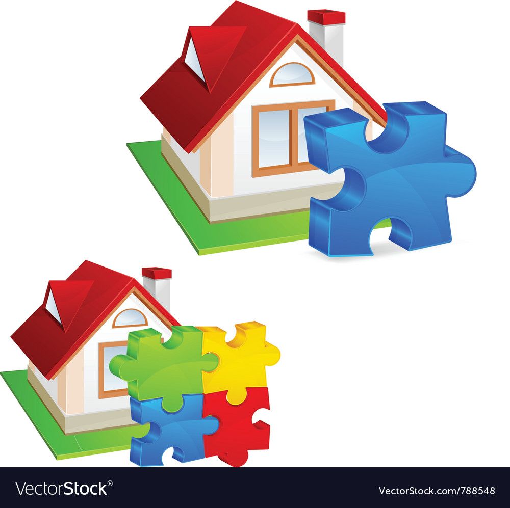 Model of house vector | Price: 3 Credit (USD $3)