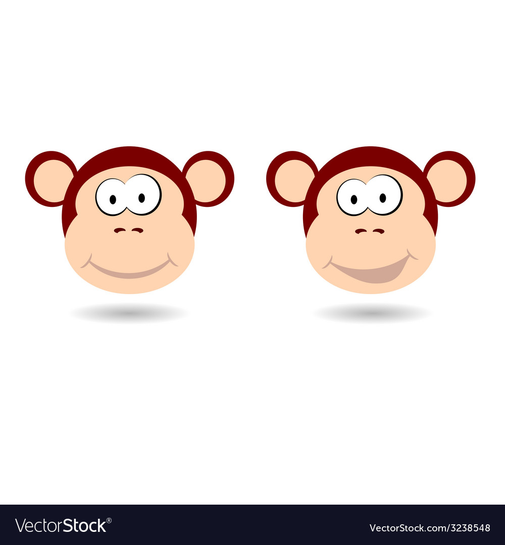 Monkey funny face vector | Price: 1 Credit (USD $1)