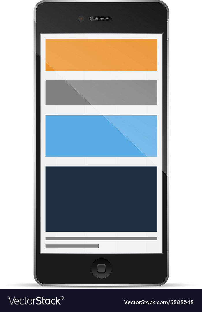 Phone with responsive grid layout vector | Price: 1 Credit (USD $1)