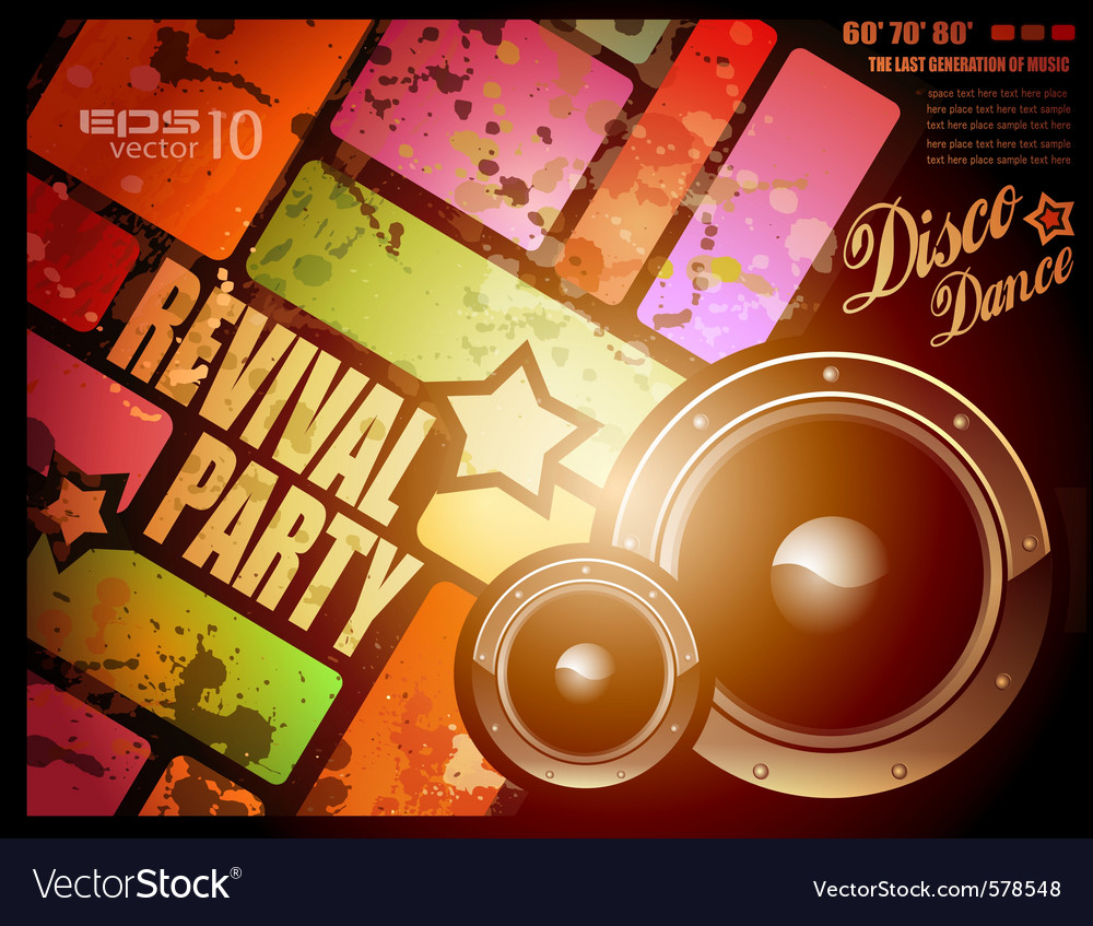Retro disco party vector | Price: 1 Credit (USD $1)