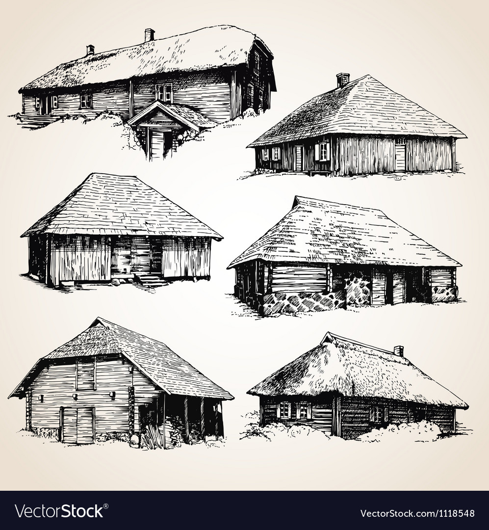 Set of buildings vector | Price: 1 Credit (USD $1)