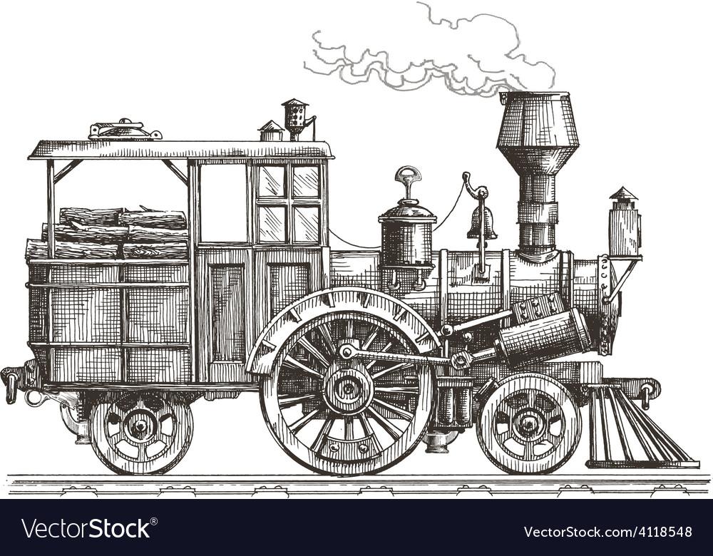 Steam locomotive logo design template vector | Price: 3 Credit (USD $3)
