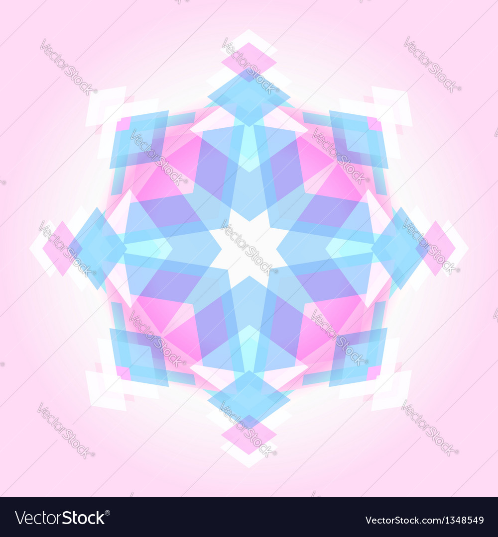 Abstract geometric snowflak vector | Price:  Credit (USD $)
