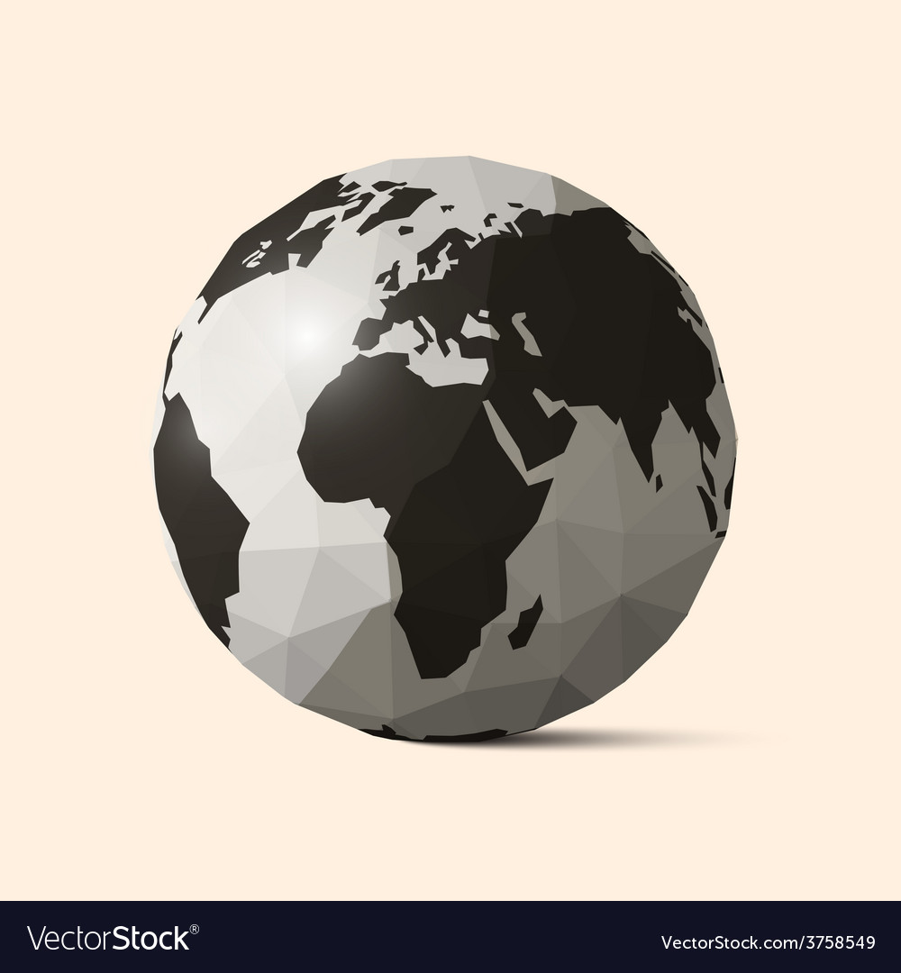 Earth - world globe crumpled paper vector | Price: 1 Credit (USD $1)