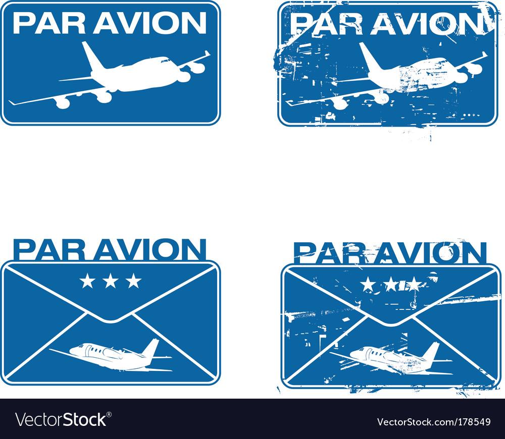 Par avion rubber stamp vector | Price: 1 Credit (USD $1)
