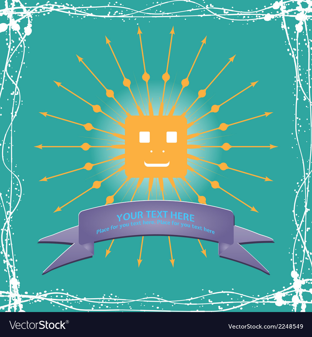 Simple sun cartoon vector | Price: 1 Credit (USD $1)