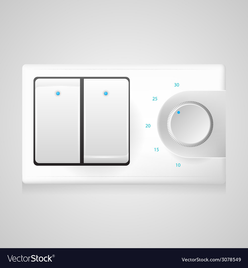 White switch with dimmer vector   Price: 1 Credit (USD $1)