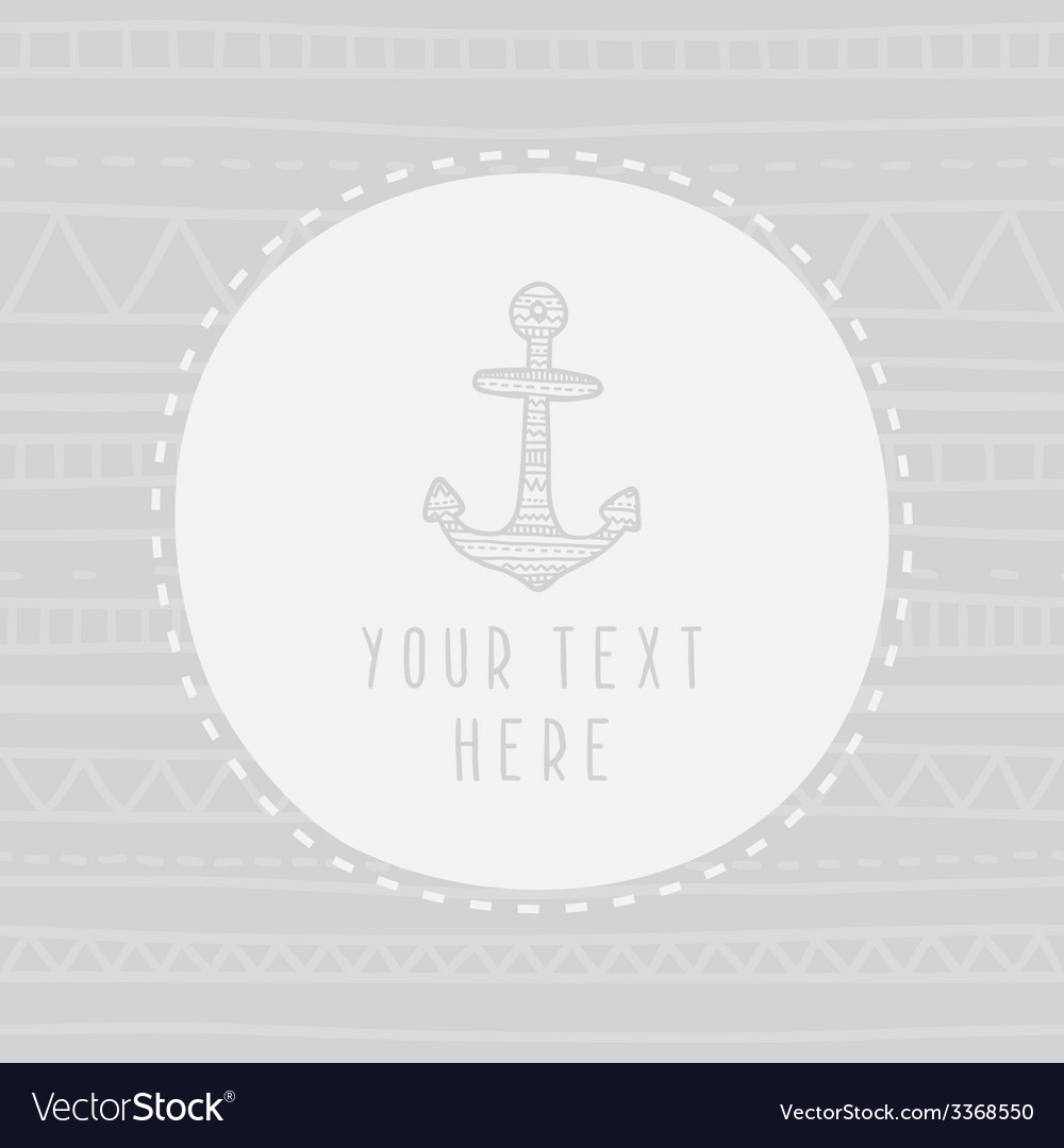 Anchor greeting card template vector | Price: 1 Credit (USD $1)